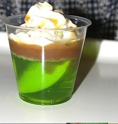 caramel apple jello shot. Caramel vodka apple vodka whipped cream vodka.