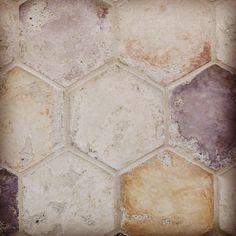"""Arto Brick Creme Fraiche 6"""" Hexagon Available Through Renaissance Tile & Bath #tileaddiction #concretetile #hexagontiles by sarabernheisel"""