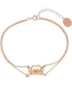 ALEX MONROE ROSE GOLD-PLATED CRAB DIAMOND BRACELET Alex Monroe, Gold Necklace, Pendant Necklace, Jewelry Bracelets, Jewellery, Rose Gold Plates, Diamond Jewelry, Jewels, Gifts
