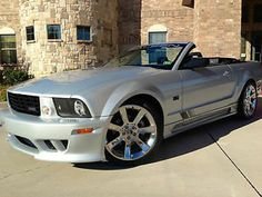 2006 FORD MUSTANG SALEEN S281 CONVERTIBLE SATIN SILVER/BLACK IMMACULATE 1-OWNER