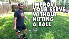 How To Improve Your Serve Without Hitting A Ball! Tennis Lessons, Tennis Tips, Tennis Serve, Tennis Workout, Free Training, Improve Yourself, Exercises, Exercise Routines, Exercise Workouts