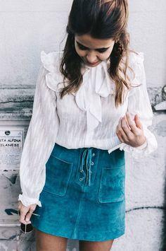 look camisa saia suede | luvmay.com.br |