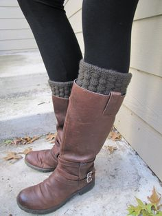 Boot Sock with Cuff Full boot Sock sock Included by sugarbshop, $26.00