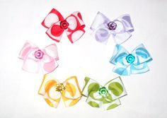 6 Colorful Puppy Dog Hair Bows Early Bird Sale