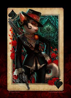 Lackadaisy Cats - Queen of Spades