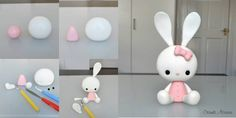 DIY Cute Bunny Polymer Clay Tutorial