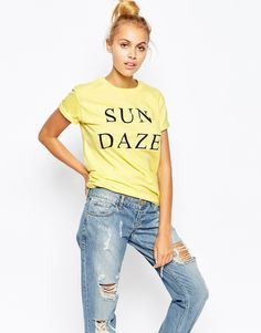 Image 1 ofAdolescent Clothing Boyfriend T-Shirt With Sun Daze Print