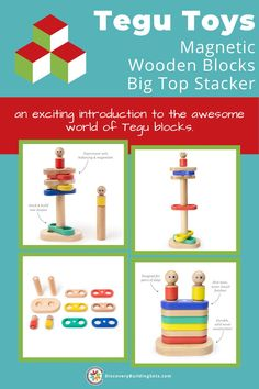 $30 - Discovery Building Sets offers magnetic wooden blocks featuring Tegu Blocks. Tegu Toys - Big Top Stacker is specifically designed for the small hands of children ages 1-3 years. Tegu wooden blocks are designed to promote unscripted and open-ended play. The magnetic building toys' colorful pieces may be stacked on their posts or flipped over to defy gravity with the power of magnets. Like magic, engage your child's imaginations with Tegu Magnetic Blocks. Learn more! #DiscoveryBuildingSets Blocks For Toddlers, Block Play, Stacking Toys, Interactive Toys, Big Top, Creative Play, Wooden Blocks, Building Toys, Toddler Toys