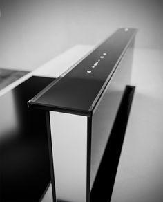Luxusní výsuvná digestoř z pracovní desky SIRIUS SDD 18 BALANCE BLACK