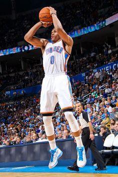 Russell Westbrook wearing Jordan Super.Fly PE
