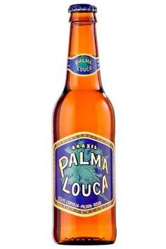 Cerveja Palma Louca, estilo Standard American Lager, produzida por FEMSA Cervejaria, Brasil. 4.6% ABV de álcool.