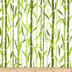 Water Garden Large Bamboo Green from Designed by Jane Dixon for Andover Fabrics, this cotton print is perfect for quilting, apparel and home decor accents. Colors include shades of green and white. Van Curtains, Andover Fabrics, Bamboo Plants, Retro Fabric, Chair Fabric, Fabulous Fabrics, Fabric Samples, Water Garden, Shades Of Green