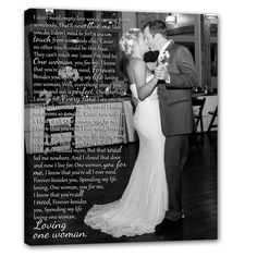create your own romantic wall art of your love for one another for years to come with personalized canvas art. #wedding #vows #decor geezees.com/