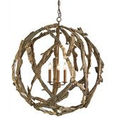 Found it at AllModern - Driftwood 3 Light Candle Chandelier