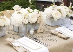 TABLE NUMBERS RUSTIC