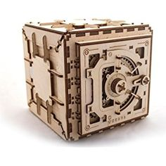 Safe by Ugears Is Mechanical 3D Puzzle Wooden Brainteaser for Kids, Teens and Adults