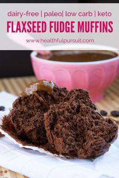 Flaxseed Fudge Muffins (grain-free, paleo, low carb + keto) | Healthful Pursuit | Bloglovin'