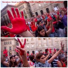 Powerful Barcelona, Spain protest! Blood on the hands of those who silently watch the #Gaza massacres - August 2014