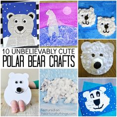 Unbelievably Cute Polar Bear Crafts | I Heart Crafty Things