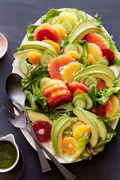 Citrus Avocado Salad from www.whatsgabycooking.com - getting the most out of citrus season and keeping it healthy and bright! (@whatsgabycookin)