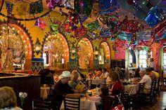 Lunch today: Mi Tierra, Market Square, San Antonio. The decorations are fabulous!