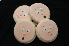 Baby Face Sugar Cookies by TheSugarCo on Etsy, $20.00
