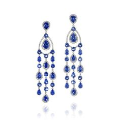 1f3ff667977 Amsterdam Sauer Earrings - Earrings in white gold with tanzanites and  diamonds