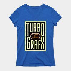 Lightly Distressed Turbografx 16 Shirt Womens V-Neck T-Shirt