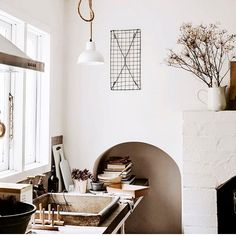 """Lynda Gardener (@the_estate_trentham) posted on Instagram: """"Kitchen corner @the_estate_trentham captured by @biancavirtue  ———————————————— #accommodation #stay #theestatetrentham #country #trentham…"""" • Aug 23, 2020 at 9:43pm UTC Neutral Kitchen, Eclectic Kitchen, Cozy Kitchen, Kitchen Corner, Kitchen Shelves, White Houses, Simple House, Minimalist Home, Vintage Kitchen"""