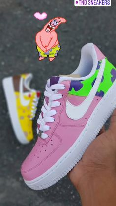 Custom Vans Shoes, Custom Painted Shoes, Jordan Shoes Girls, Girls Shoes, Cute Nike Shoes, Nike Shoes Air Force, Swag Shoes, Aesthetic Shoes, Fresh Shoes
