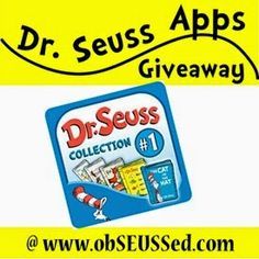 Giveaway for a set of 5 Classic Dr. Seuss book apps!   Review, Giveaway and Sale on all Dr. Seuss apps this week. {obSEUSSed}