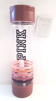 Victoria's Secret PINK Campus Water Bottle Pink Stripes NWT!!! SOLD OUT! #VictoriasSecretPINK
