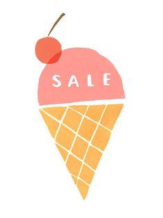 Ekaterina Trukhan, ice cream, digital screen print, design, cute, ice cream, summer, drawing, illustration, food