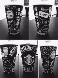 Coffee-themed coffee cup. :) Design by Cassie Xiong. #WhiteCupContest