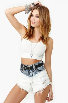 Double Dip High Waisted Shorts Nasty Gal