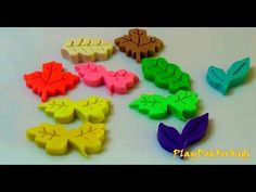 Learning Colours with Play Doh and Leaf Shaped Cookie Cutters Peppa Pig ...