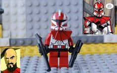 Lego Star Wars Clone Trooper Commander Ganch Custom Star Wars Clone Wars, Lego Star Wars, Go To Settings, Lego Figures, Clone Trooper, Fun, Hilarious