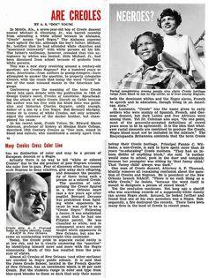 Are Creoles Negroes? - Jet Magazine, June 25, 1953