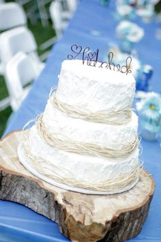 Country wedding cake by Vickie Harper