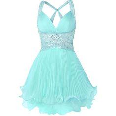 Wish   Baby Blue Dress