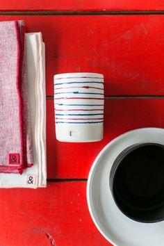 table linens and ceramics on display at Hedley & Bennett studio dtla. / sfgirlbybay