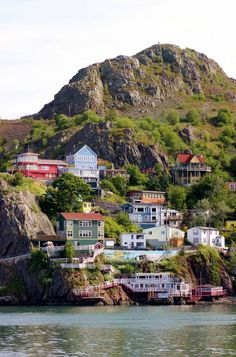 the Battery neighbourhood, which is strung along the cliffs at the entrance to St. John's, NFLD, Canada ~ photo by SignalHillHiker) June 2015 visit Newfoundland Canada, Newfoundland And Labrador, Villas, Places To Travel, Places To Go, Gros Morne, Canadian Travel, Canadian Rockies, O Canada