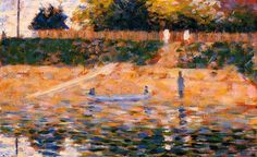 Boats near the Beach at Asnieres Georges Seurat - circa 1883