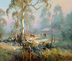 Paintings - Ivars Jansons - Page 4 - Australian Art Auction Records Watercolor Landscape, Landscape Paintings, Watercolor Art, Australian Painting, Australian Artists, Long Painting, Art Aquarelle, Royal Art, Westerns