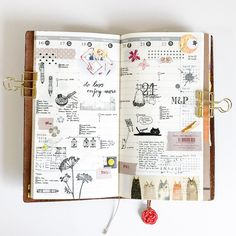 Past week in the Vertical Weekly insert for my Midori Traveler's notebook. To decorate the pages I've used bits and pieces such as washi, stickers, and stamps (some from @_sakuralala_ and some others tagged).