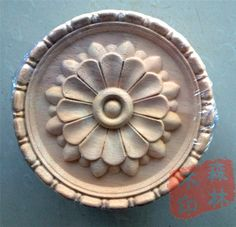 Wood dongyang wood carving fashion applique gate flower wood shavings carved solid wood circle 15 20 30cm