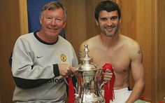 May 22 Millennium Stadium, Sir Alex Ferguson and Roy Keane with the FA Cup after Manchester United defeated Millwall with goals from Ruud van Nistelrooy and Cristiano Ronaldo. Click through for full size. Alex Ferguson Book, Manchester United Fa Cup, Ruud Van Nistelrooy, Millennium Stadium, Roy Keane, Millwall, Fa Cup Final, Cristiano Ronaldo, Cool Things To Buy