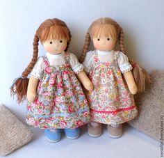 Купить Сестрёнки, 30 см - вальдорфская кукла, вальдорфская игрушка, игровая кукла, детская кукла