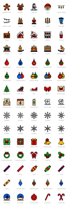 Conjunto de 100  iconos navideños escalables totalmente gratis c2cfdd7f1db