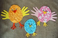 that artist woman: Spring Projects - tissue paper chicks with handprint wings